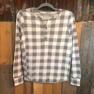 NWOT, Plaid thermal henley